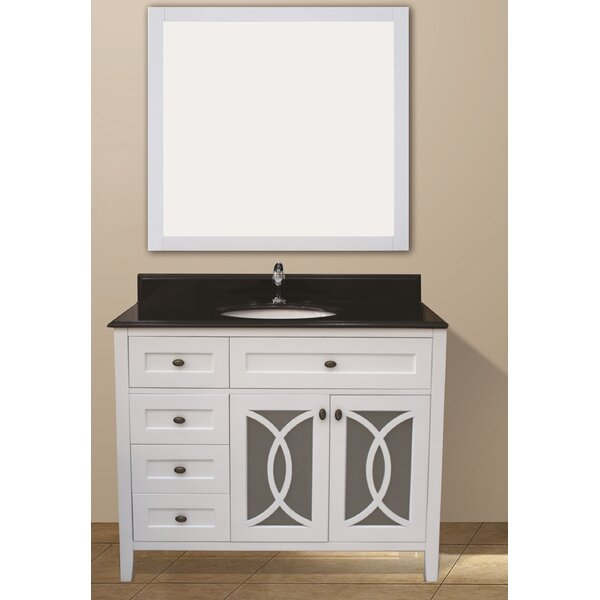 Margaret Garden 42 Single Bathroom Vanity Set by NGY Stone & Cabinet