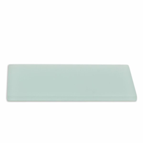 Contempo 3 x 6 Glass Subway Tile in Seafoam by Splashback Tile