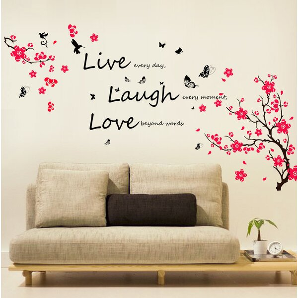 Maceus Blossom Vivid Live Laugh Wall Decal by Ebern Designs
