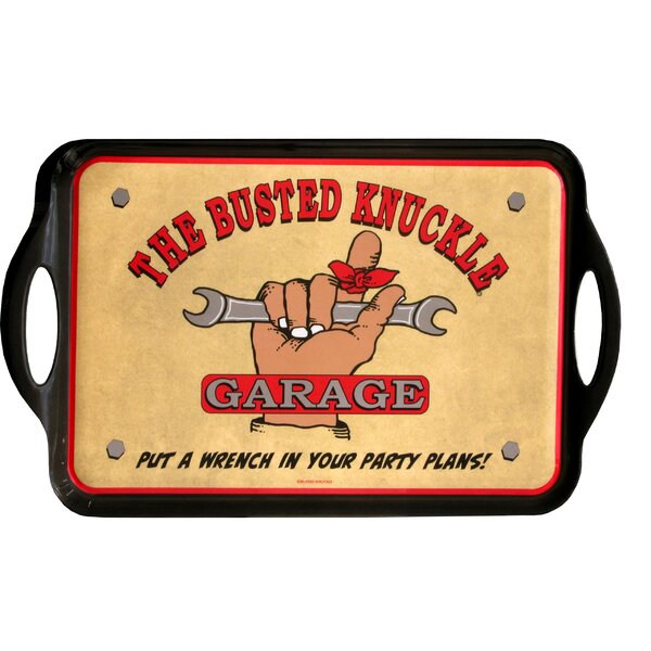 Busted Knuckle Garage Serving Tray by MotorHead Products
