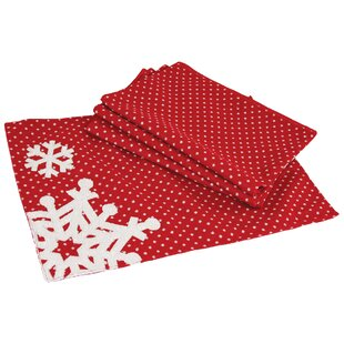 snowflake christmas placemat set of 4