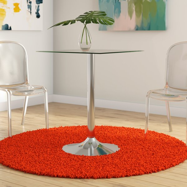 Delora Glass Dining Table by Orren Ellis