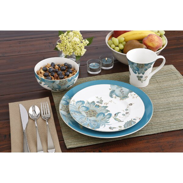 Eliza Teal 16 Piece Dinnerware Set Service For 4 By 222 Fifth.