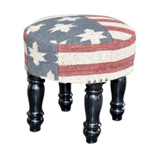 Wood Upholstered Accent Stool by Divine Designs