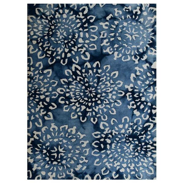 Tullos Hand-Tufted Wool Blue Area Rug by Red Barrel Studio
