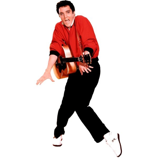 Elvis Presley with Guitar Life-Size Cardboard Stand-Up by Advanced Graphics