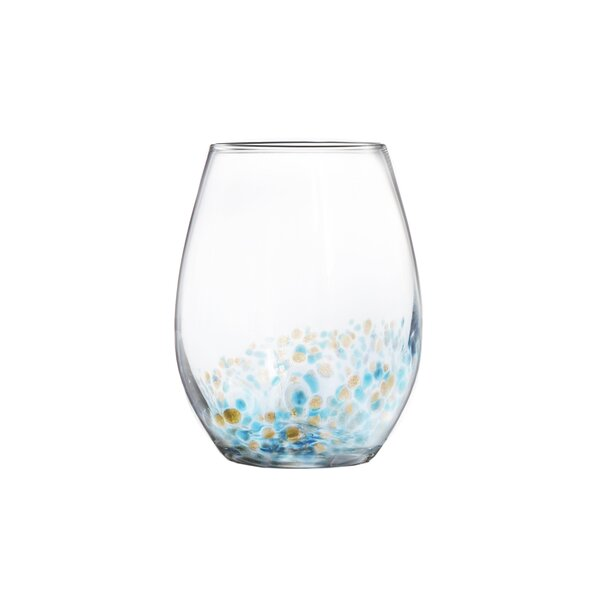 Callie 15oz Stemless Goblets Every Day Glasses (Set of 4) by Fitz and Floyd