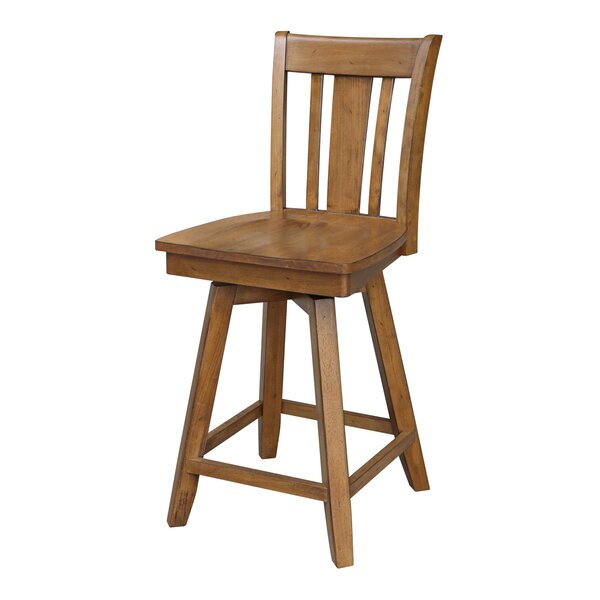 Russell 24 Swivel Bar Stool by Loon Peak
