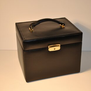 Shopping for Ladies Classic Jewelry Box Travel Case ByBudd Leather