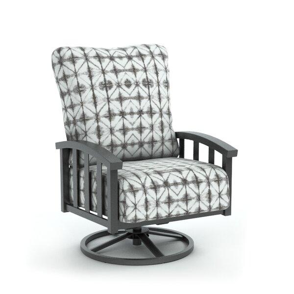 Lonny Swivel Patio Chair with Sunbrella Cushion by Bloomsbury Market