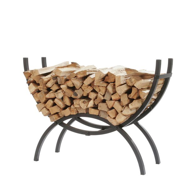 Crescent Log Rack by Shelter