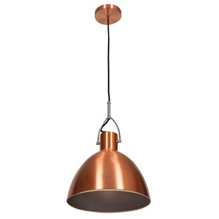 Modern copper pendant lighting allmodern damion industrial 1 light mini pendant aloadofball Images