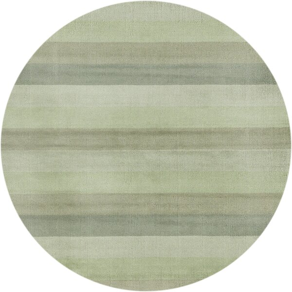 Degarmo Green Stripes Area Rug by Mercury Row
