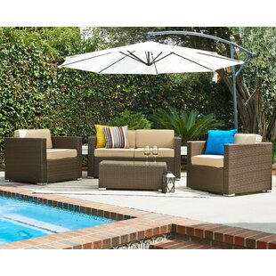 Wicker 5 Piece Sofa Set with Cushions ByW Unlimited