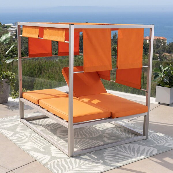 Kerns Patio Daybed with Cushions by Orren Ellis