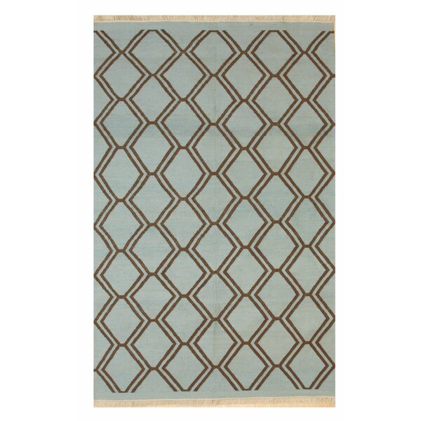 Gaines Transitional Hand-Woven Blue Indoor/Outdoor Area Rug by Ivy Bronx