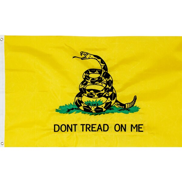 American Heritage Edition Gadsden 2-Sided Traditional Flag by Founding Fathers Flags