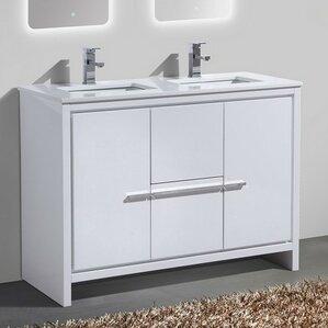 5 foot double sink vanity. Bosley 48  Double Sink Modern Bathroom Vanity Vanities You ll Love Wayfair
