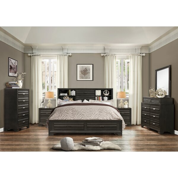 Loiret Wood 6 Piece Bedroom Set by Roundhill Furniture