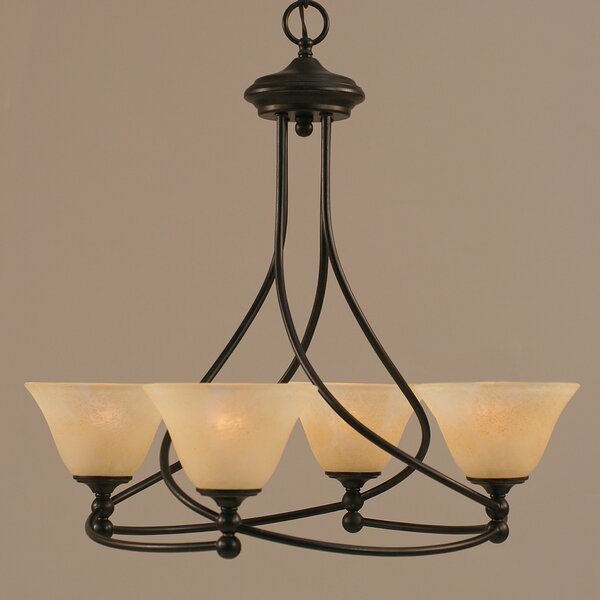 Skypark 4-Light Shaded Classic / Traditional Chandelier By Winston Porter