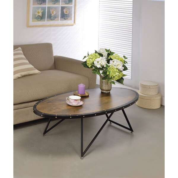 Sudie Cross Legs Coffee Table By Williston Forge