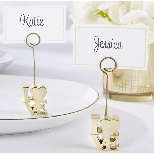 Love Place Card Holder (Set of 18) by Kate Aspen