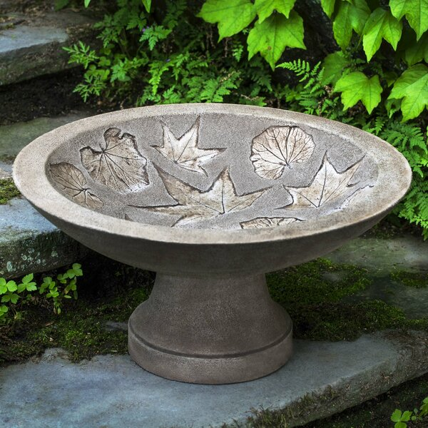 Falling Leaves Birdbath by Campania International