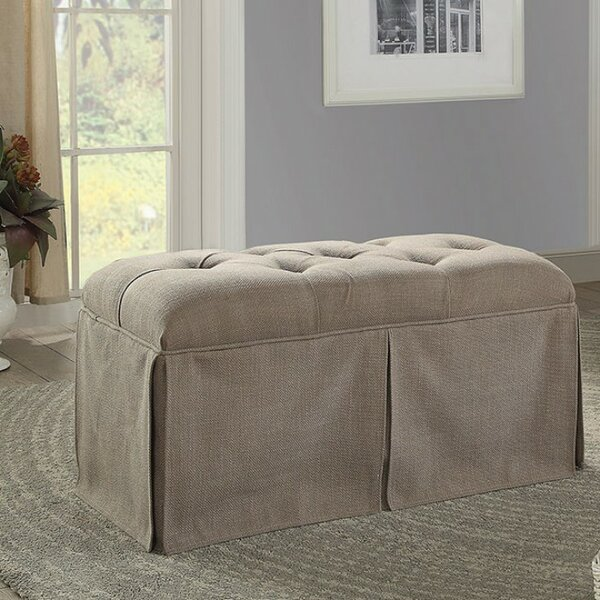 Beatty Tufted Fabric Upholstered Storage Bench By Alcott Hill