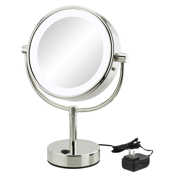 Yadhu Modern Round Makeup/Shaving Mirror by Orren Ellis