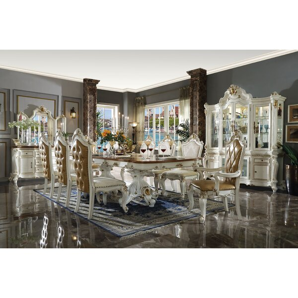 Penaflor Double Pedestal Extendable Dining Table by Astoria Grand Astoria Grand