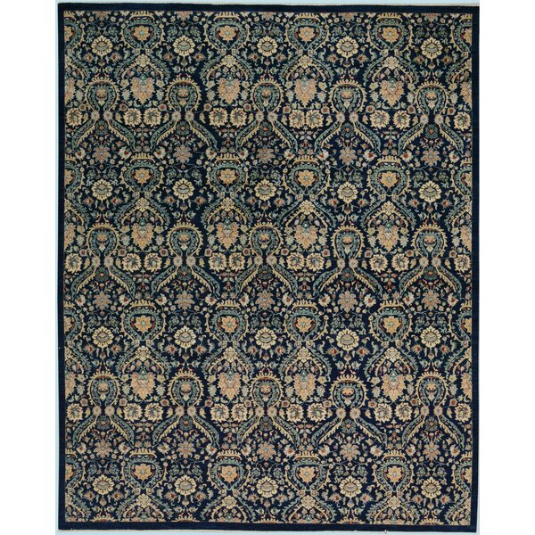 One-of-a-Kind Lyle Peshawar Hand Knotted Wool Blue/Ivory Area Rug by World Menagerie