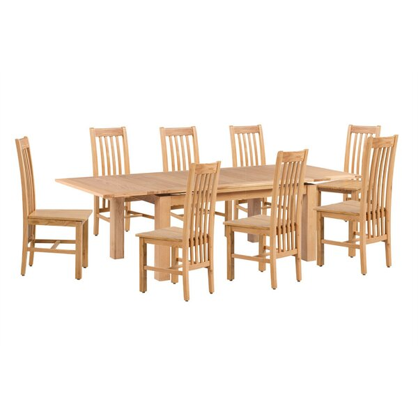 Pecora 9 Piece Extendable Dining Set by Loon Peak