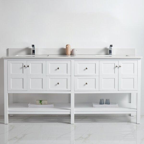 Borst 72 Double Bathroom Vanity Set