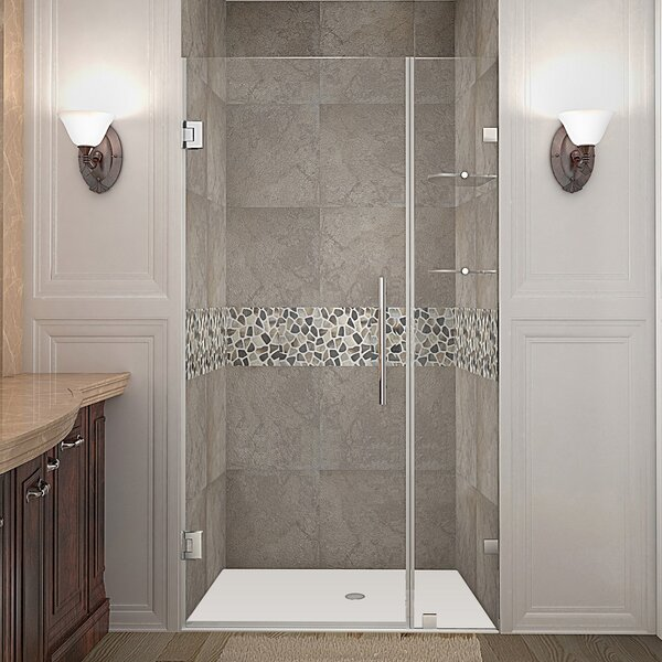 Nautis GS 37 x 72 Hinged Completely Frameless Shower Door by Aston