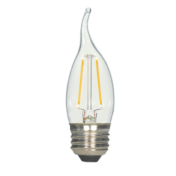 3W E26 Medium LED Vintage Filament Light Bulb by Satco
