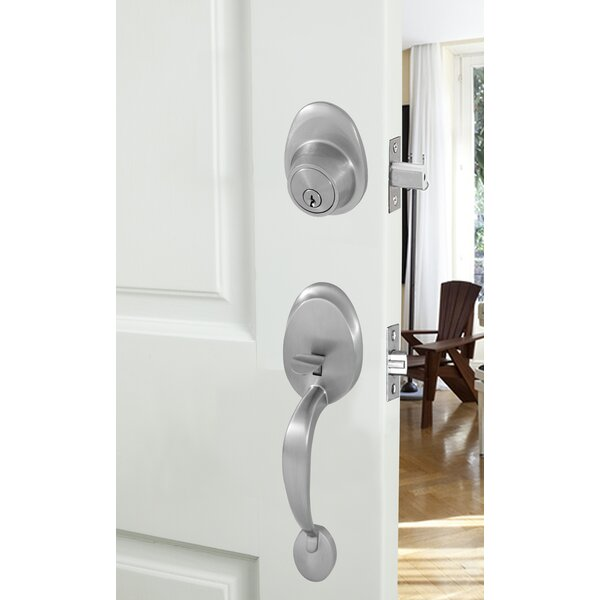 Wave Double Cylinder Entrance Handleset by Honeywell