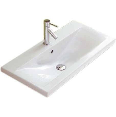 Clever Ceramic 39 Wall Mount Bathroom Sink with Overflow by Althea by Nameeks