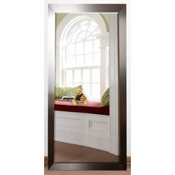 Orren Ellis Bernadette Rectangle Beveled Silver Wall Mirror