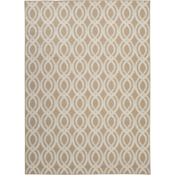 Lawanda Beige Indoor/Outdoor Area Rug by Wrought Studio