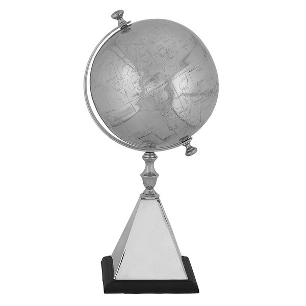 Mallus Classic Decorative Silver World Tabletop Globe by EC World Imports