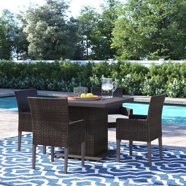 Tegan 5 Piece Dining Set with Cushions by Sol 72 Outdoor