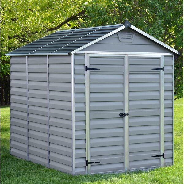 SkyLight™ 6 Ft. W x 8 Ft. D Polycarbonate Storage Shed by Palram