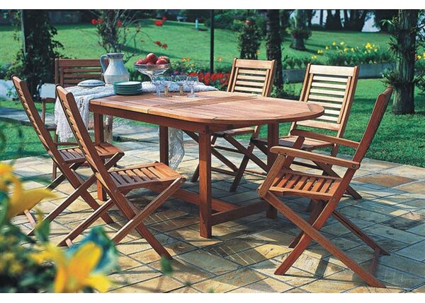 Eades 7 Piece Dining Set by Beachcrest Home