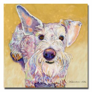 'Scooter' by Pat Saunders-White Framed Painting Print on Wrapped Canvas by Trademark Fine Art