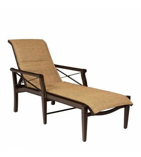 Andover Sling Reclining Chaise Lounge by Woodard