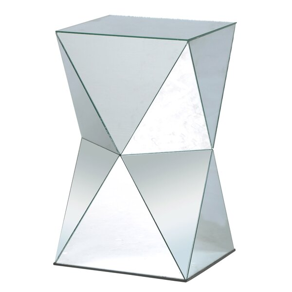 Leib Crafted Mirror End Table By Wrought Studio