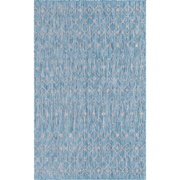 Kimber Blue/Beige Indoor/Outdoor Area Rug by Gracie Oaks
