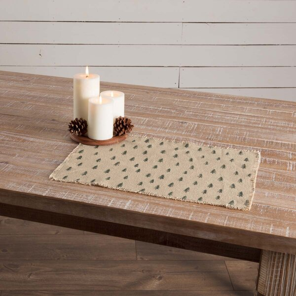 Altha Vintage Burlap Tree Placemat (Set of 6) by The Holiday Aisle