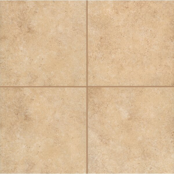 Pensdale Floor Glazed 12 x 12 Porcelain Field Tile in Gold Shell by Mohawk Flooring