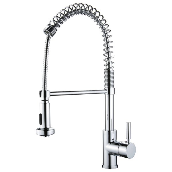 Spring Pull Out Single Handle Kitchen Faucet by Yosemite Home Decor